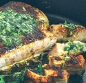 Thick Cut Pork Chop with Herb Garlic Sauce